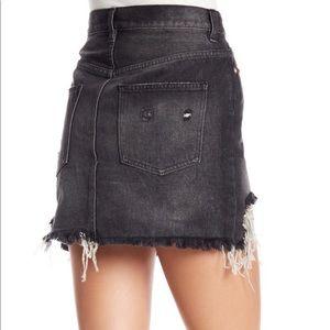 Free People Skirts - NWOT FREE PEOPLE Black denim skirt